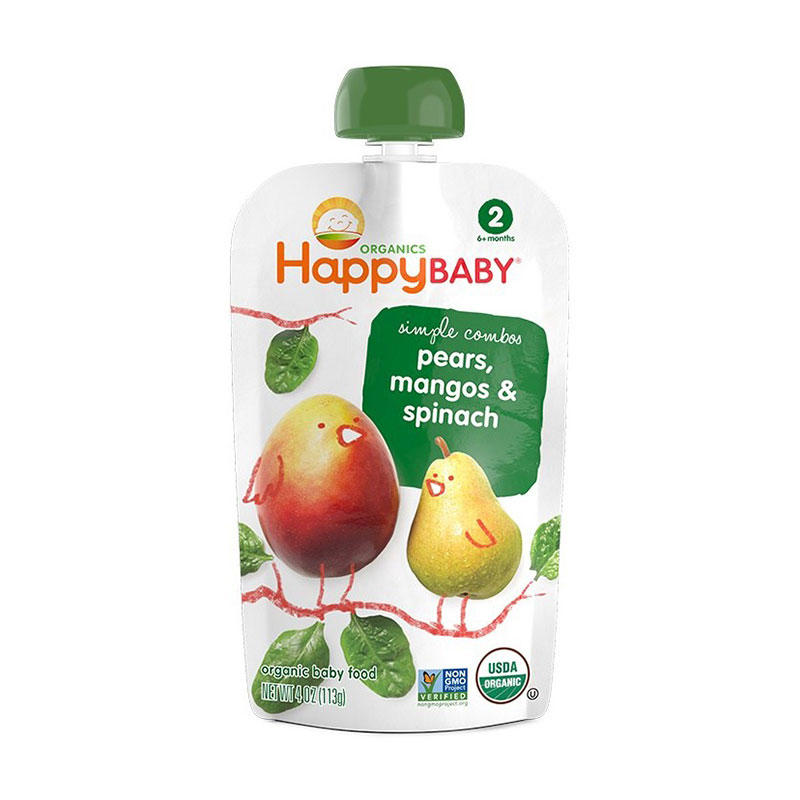 Reusable Stand Up Food Grade Biodegradable Baby Food Packaging Pouch