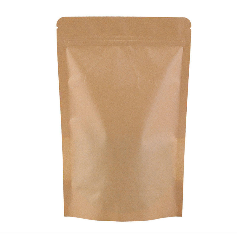 250g Kraft Paper Stand Up Zipper Pouch with clear window