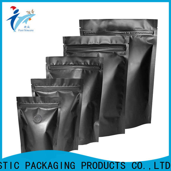 Wholesale kraft bags with window black for coffee beans