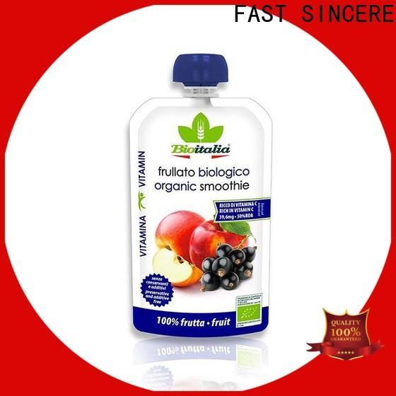 FAST SINCERE Best pouch manufacturer manufacturers for liquids