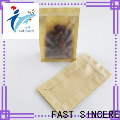 FAST SINCERE clear kraft paper bag for business for superfoods