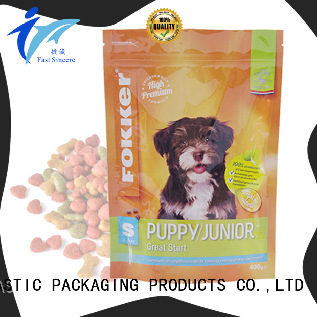 Plastic Pet Food Stand Up Packaging Zipper Pouch Bag