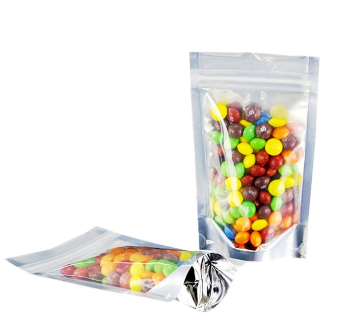 Transparent Plastic Aluminum Foil Zip Lock Packaging Bag For Food