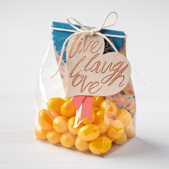 Customized candy bag supplier transparent printed plastic bag
