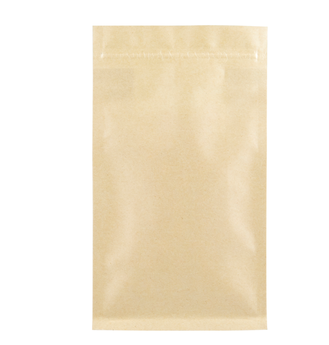 Flat Bottom Brown Kraft Paper Bags with Zipper with Window