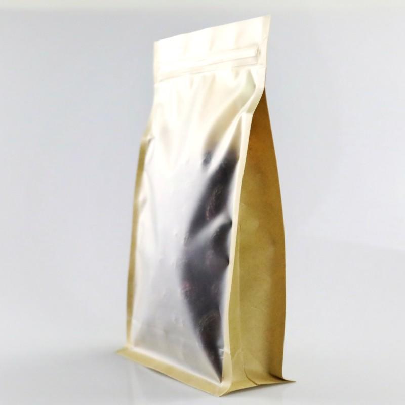 Block Bottom Paper Bag Flat Bottom with Zipper Packing supplier