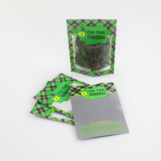 Custom Printed Stand up Pouches Cannabis Bag Manufacturer