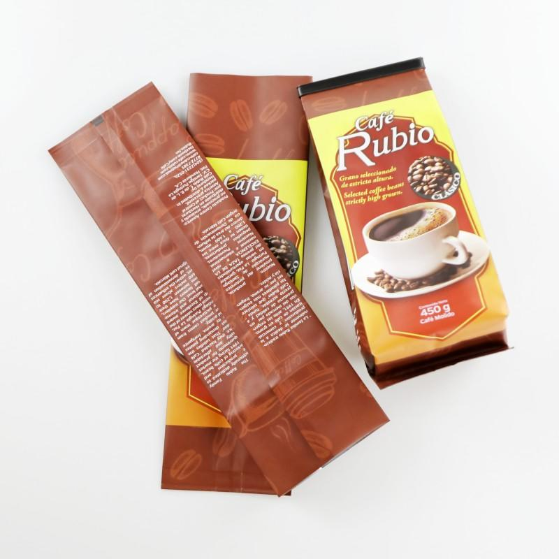 Side Gusset Coffee Bean Plastic Packaging Bags with Custom Printed