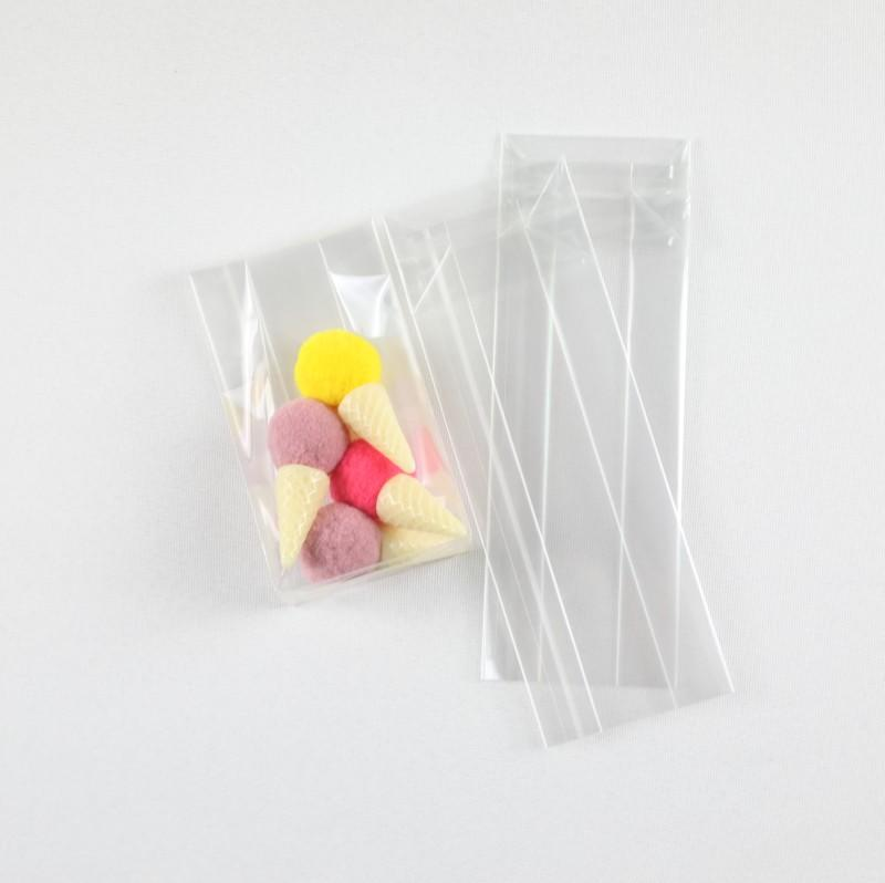 Children Use Clear Gusset Bag for Sweet Candy