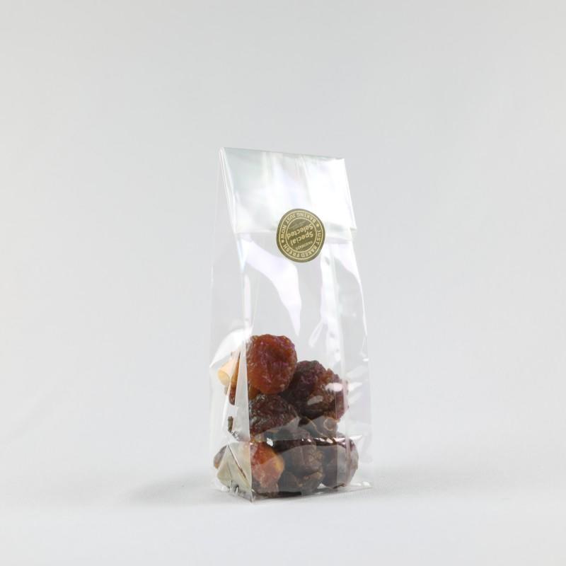Square Bottom Cellophane Bag Unprinted Sticker Lable