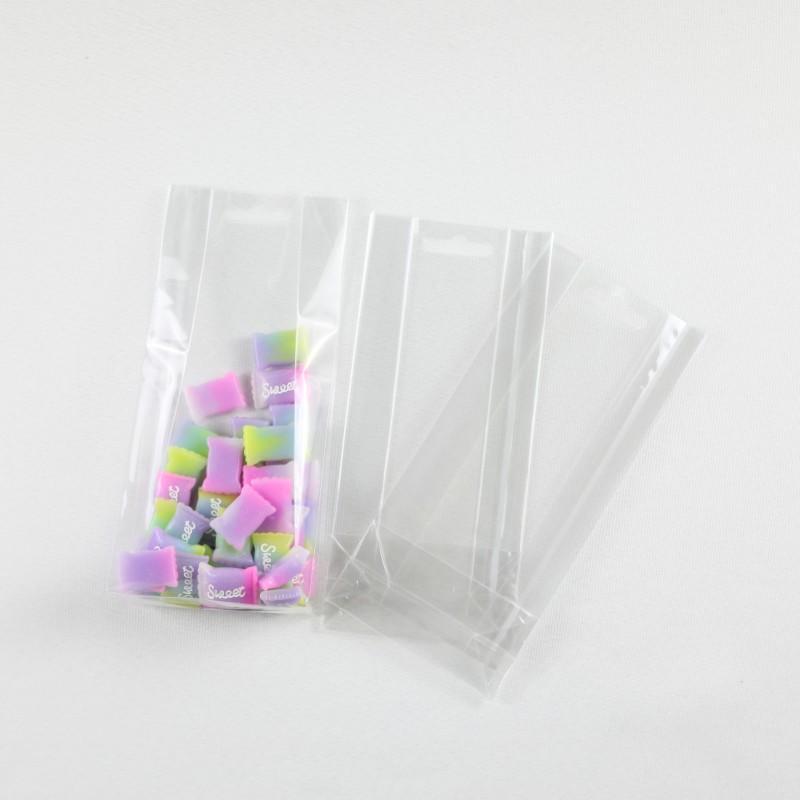 Transparent Flat Bottom Bag For Gift Packing