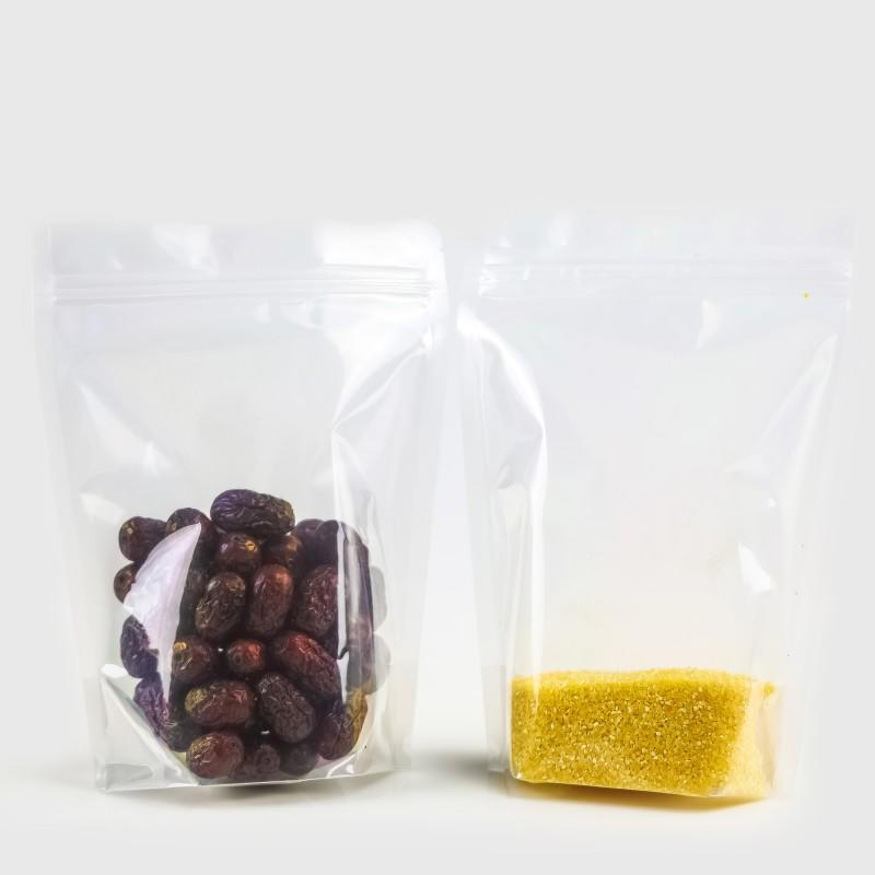 Clear Stand up Pouch with Double Zipper Bag