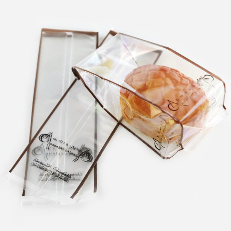 Side Gusset Bag for Bread in Printed High Clearly