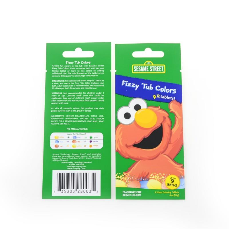 Three Side Sealed Flat Pouches for Pizzy Tub Colors