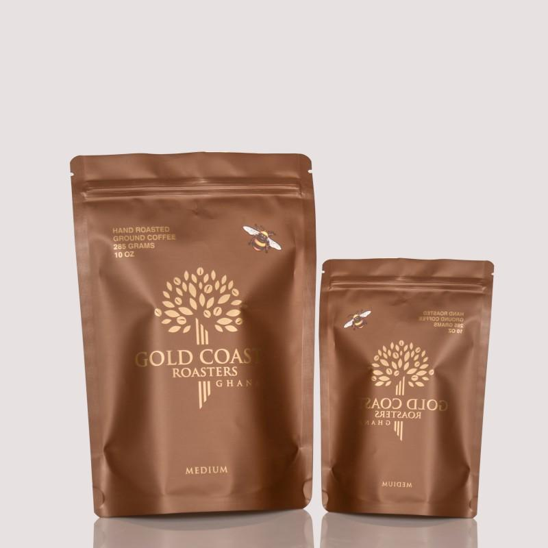 285g Custom Coffee Bags with One-Way Degassing Valves
