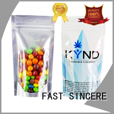 FAST SINCERE clear stand up pouches for food stand for cookies