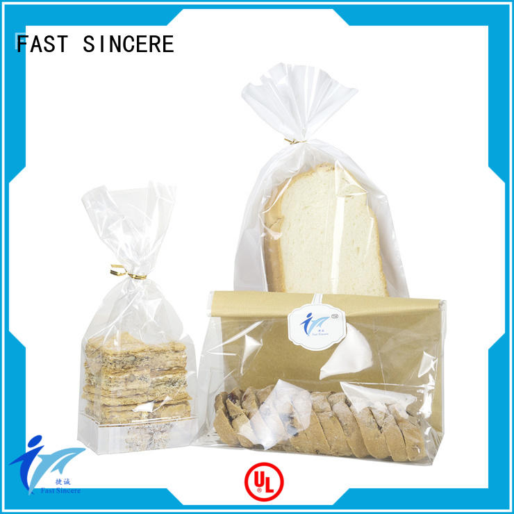 custom cellophane bags clear for snacks FAST SINCERE