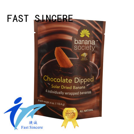 FAST SINCERE durable eco friendly stand up pouches order now for chocolate