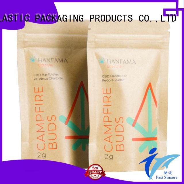 high quality custom kraft paper bags overseas market for cookies
