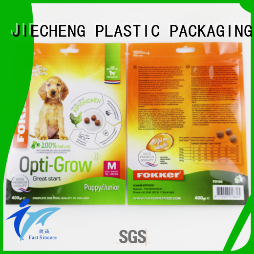 PET Food Packaging Bag with Handle Hole Manufacturer