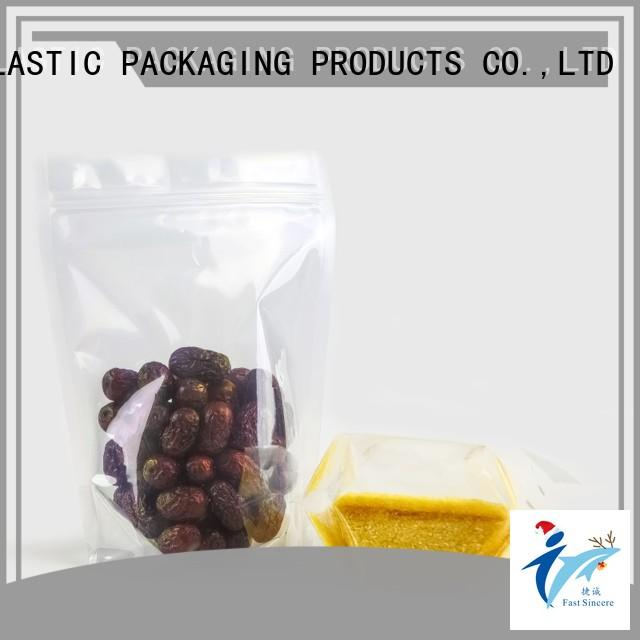 FAST SINCERE High-quality digital printed stand up pouches for superfoods