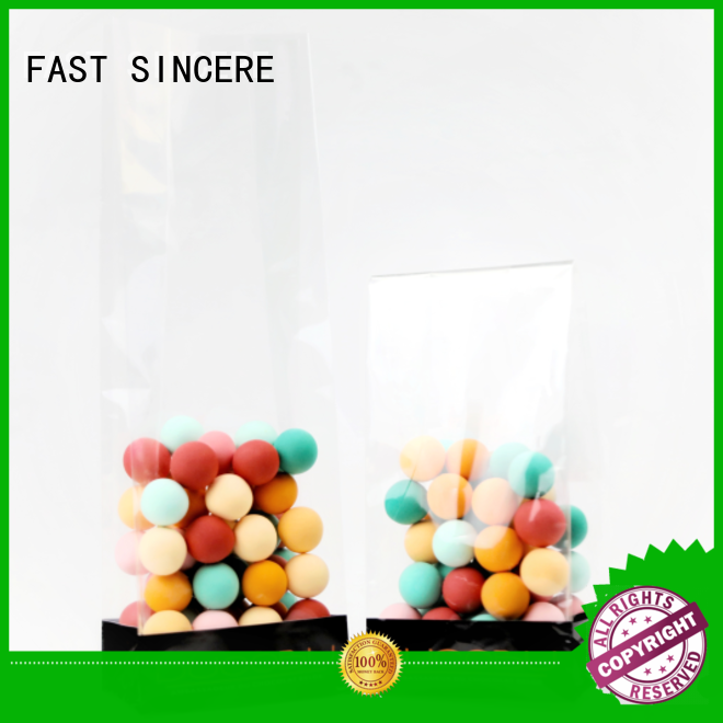 plastic block bottom bag food for sweets FAST SINCERE