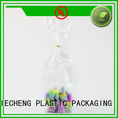 Custom cellophane packaging for cards plastic for sweets