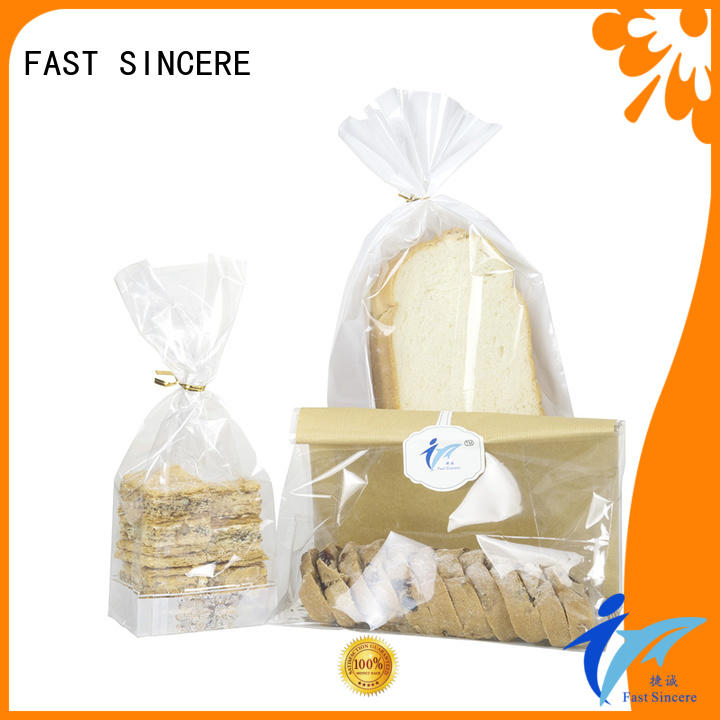 FAST SINCERE durable gusseted cellophane bags wholesale bag for sweets