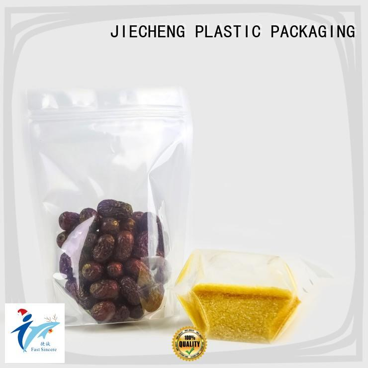 FAST SINCERE clear stand up pouch printing producer for seeds