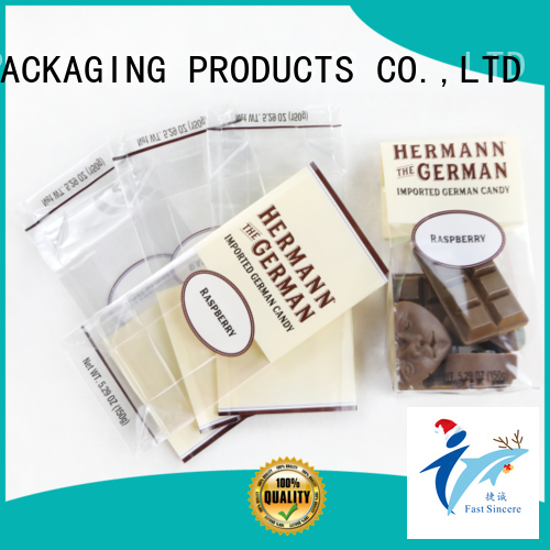 FAST SINCERE transparent plastic cellophane bags marketing for sweets