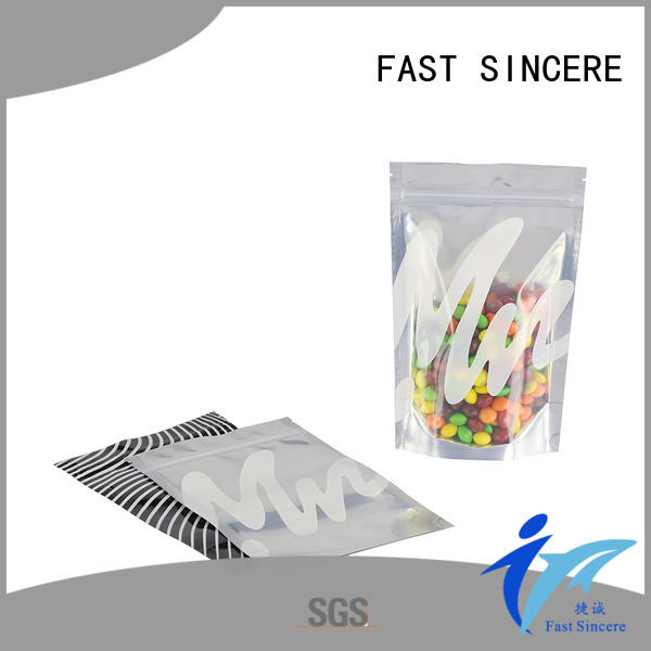 FAST SINCERE clear eco friendly stand up pouches lock for seeds