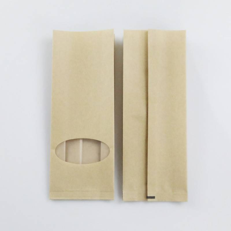 Kraft Side Gusset Bag with Window for Dry Food