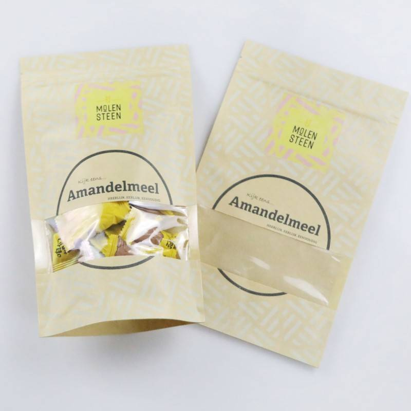 Printed Kraft Stand up Pouches with Window