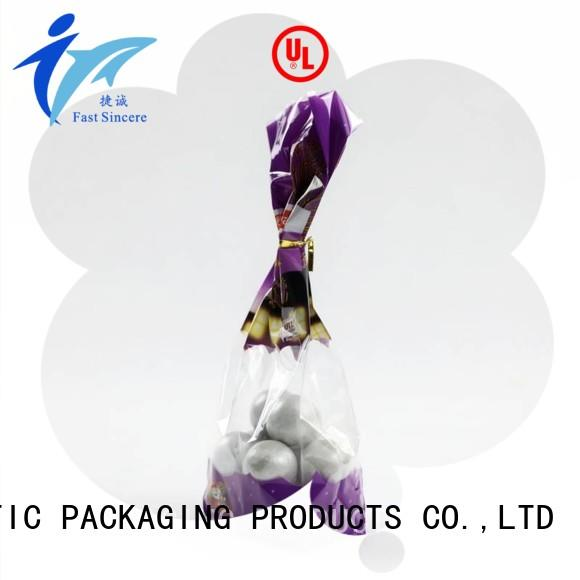 FAST SINCERE waterproof clear gift bags food for rice