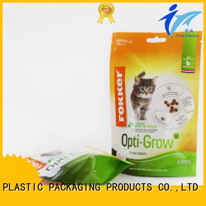 FAST SINCERE stand aluminum foil ziplock bag bulk production for nuts
