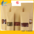 Ziplock Stand Up Kraft Paper Food Bag With Clear Window